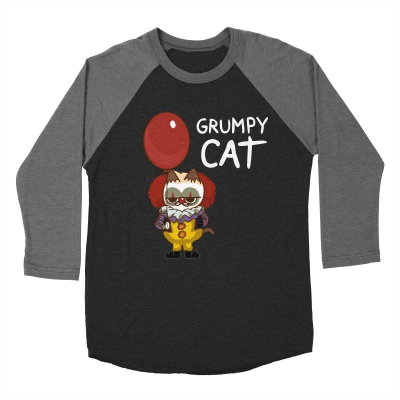 clown cat Women's Baseball Triblend Longsleeve T-Shirt by damian's Artist Shop