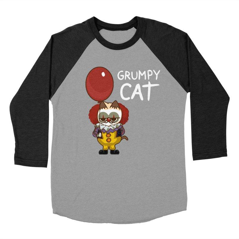clown cat Women's Baseball Triblend T-Shirt by damian's Artist Shop