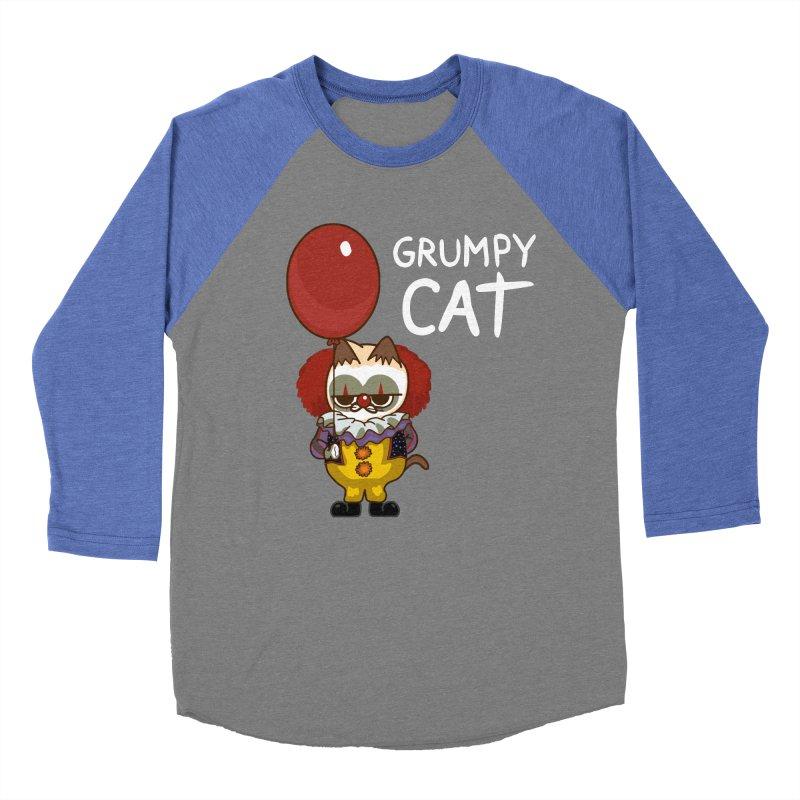 clown cat Men's Baseball Triblend Longsleeve T-Shirt by damian's Artist Shop