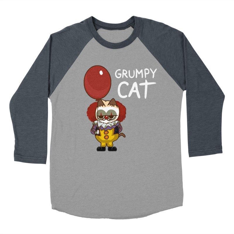 clown cat Men's Baseball Triblend T-Shirt by damian's Artist Shop