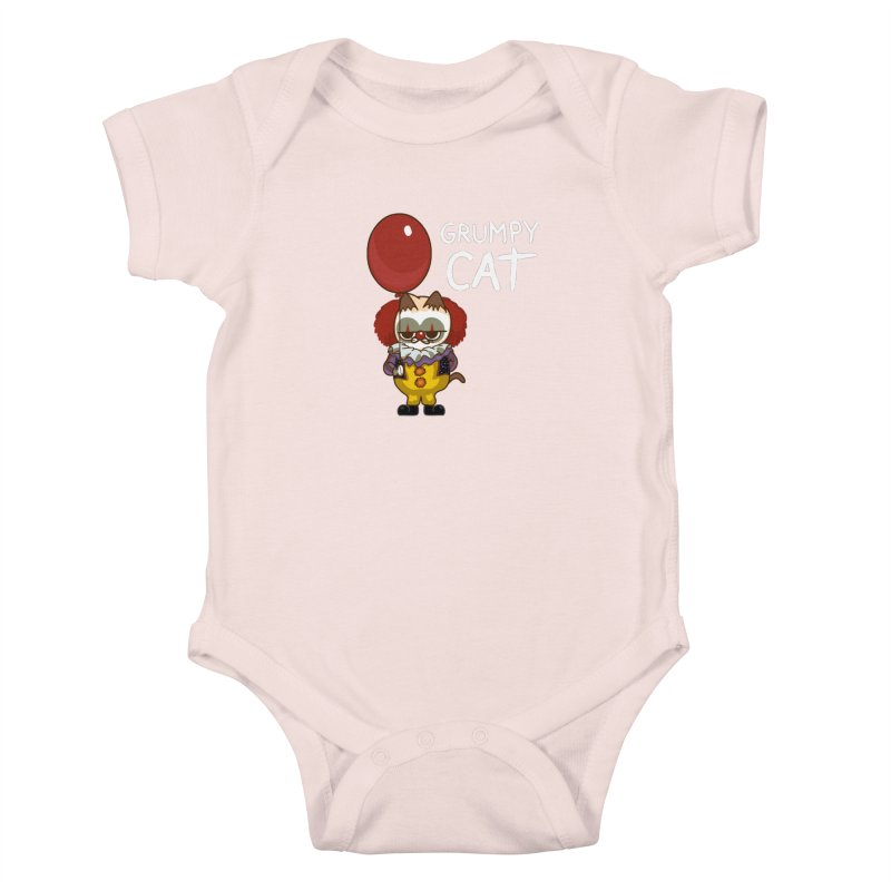 clown cat Kids Baby Bodysuit by damian's Artist Shop