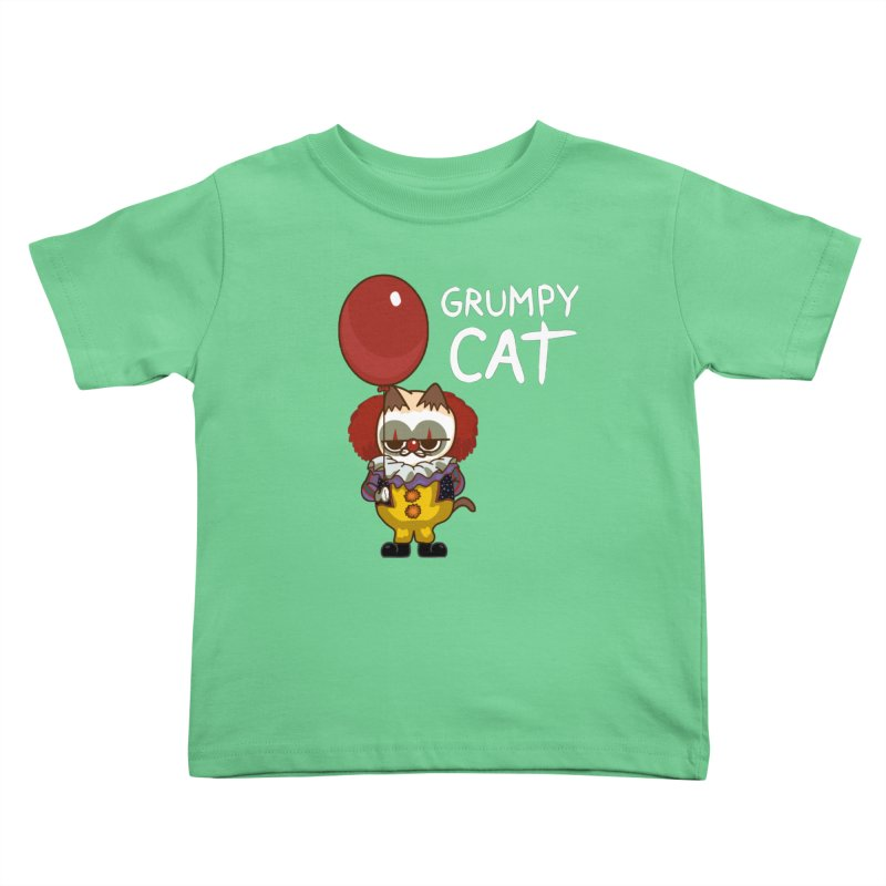 clown cat Kids Toddler T-Shirt by damian's Artist Shop