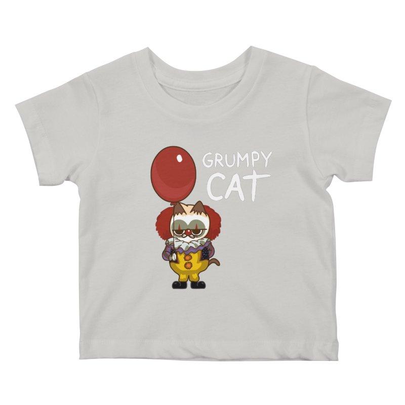 clown cat Kids Baby T-Shirt by damian's Artist Shop