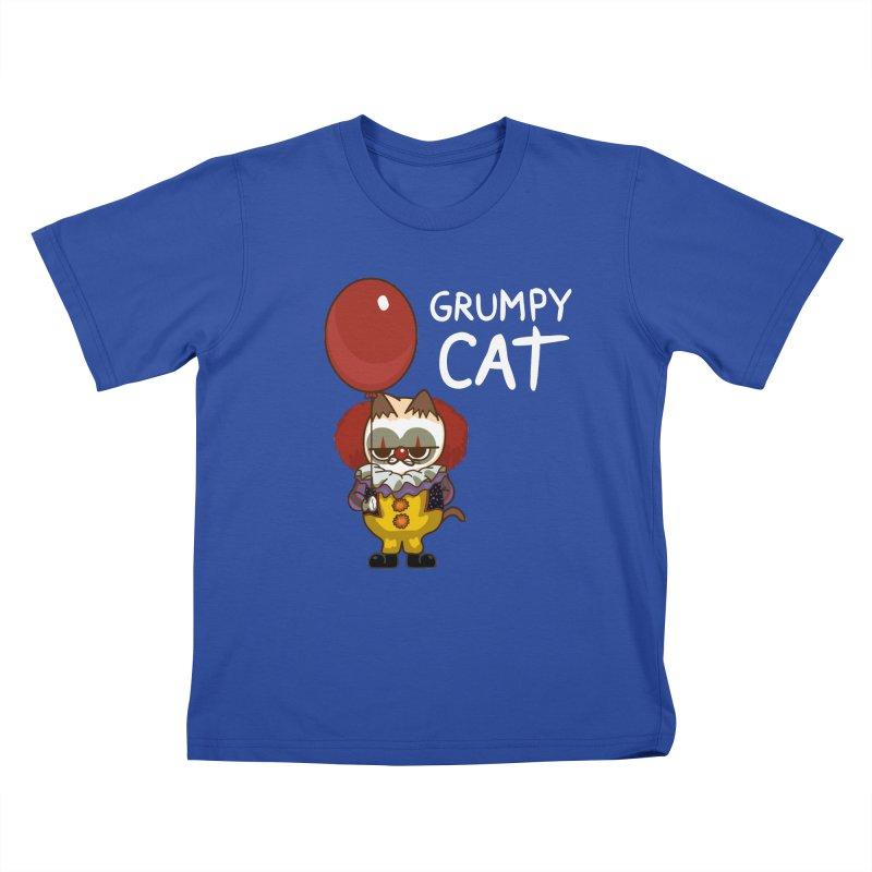 clown cat Kids T-shirt by damian's Artist Shop