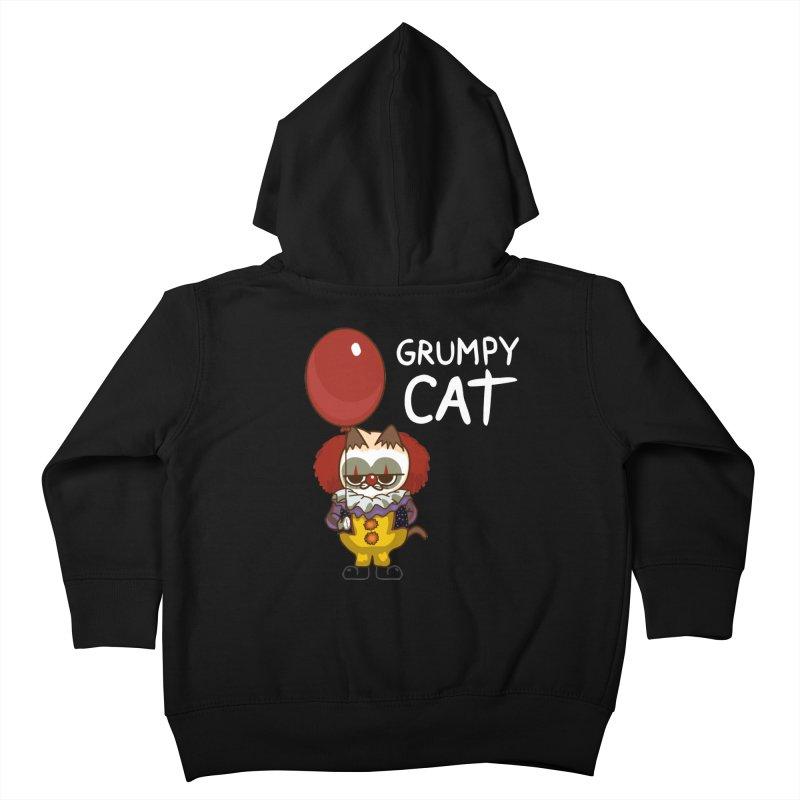 clown cat Kids Toddler Zip-Up Hoody by damian's Artist Shop