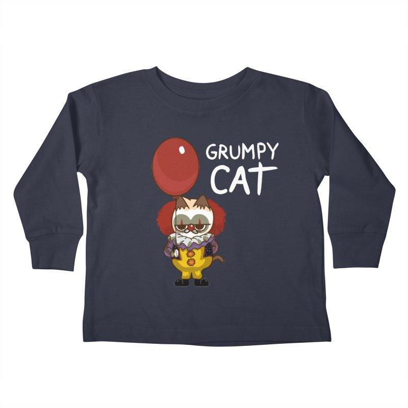 clown cat Kids Toddler Longsleeve T-Shirt by damian's Artist Shop