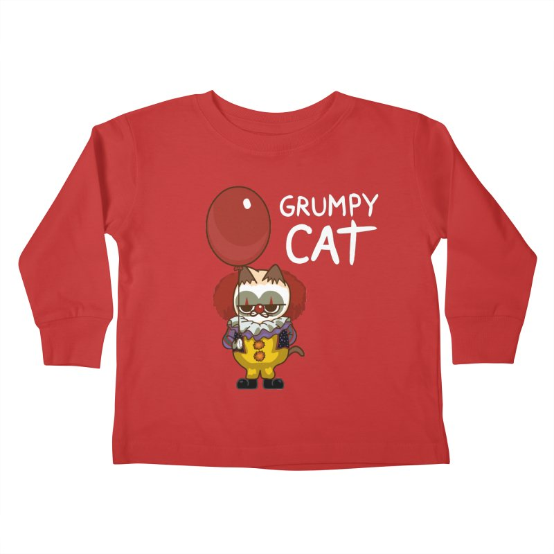 clown cat Kids Toddler Longsleeve T-Shirt by damian's Artist Shop