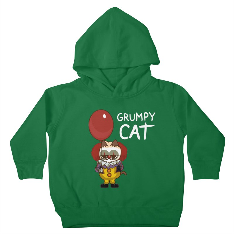 clown cat Kids Toddler Pullover Hoody by damian's Artist Shop