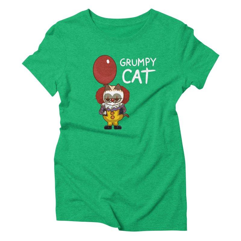 clown cat Women's Triblend T-Shirt by damian's Artist Shop