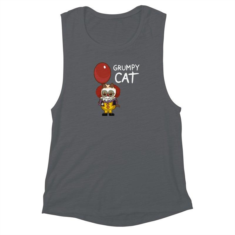 clown cat Women's Muscle Tank by damian's Artist Shop