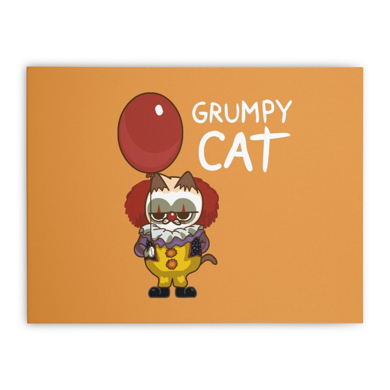 clown cat Home Stretched Canvas by damian's Artist Shop