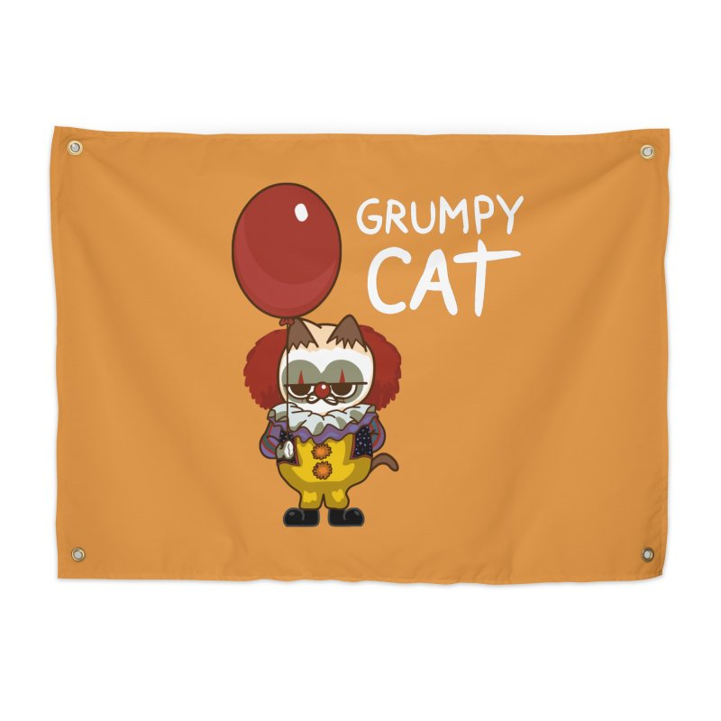 clown cat Home Tapestry by damian's Artist Shop