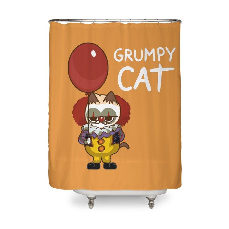 clown cat Home Shower Curtain by damian's Artist Shop