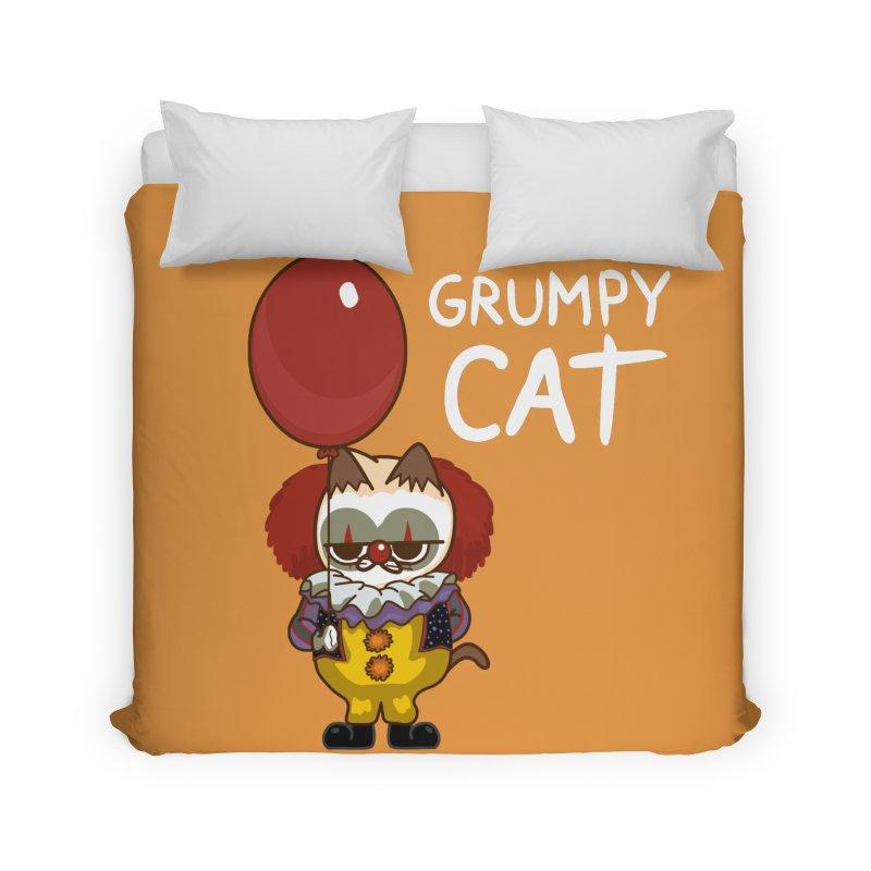 clown cat Home Duvet by damian's Artist Shop