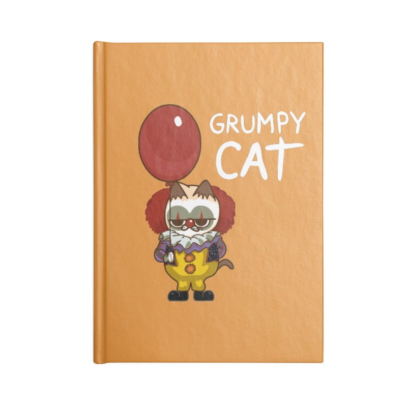 clown cat Accessories Notebook by damian's Artist Shop