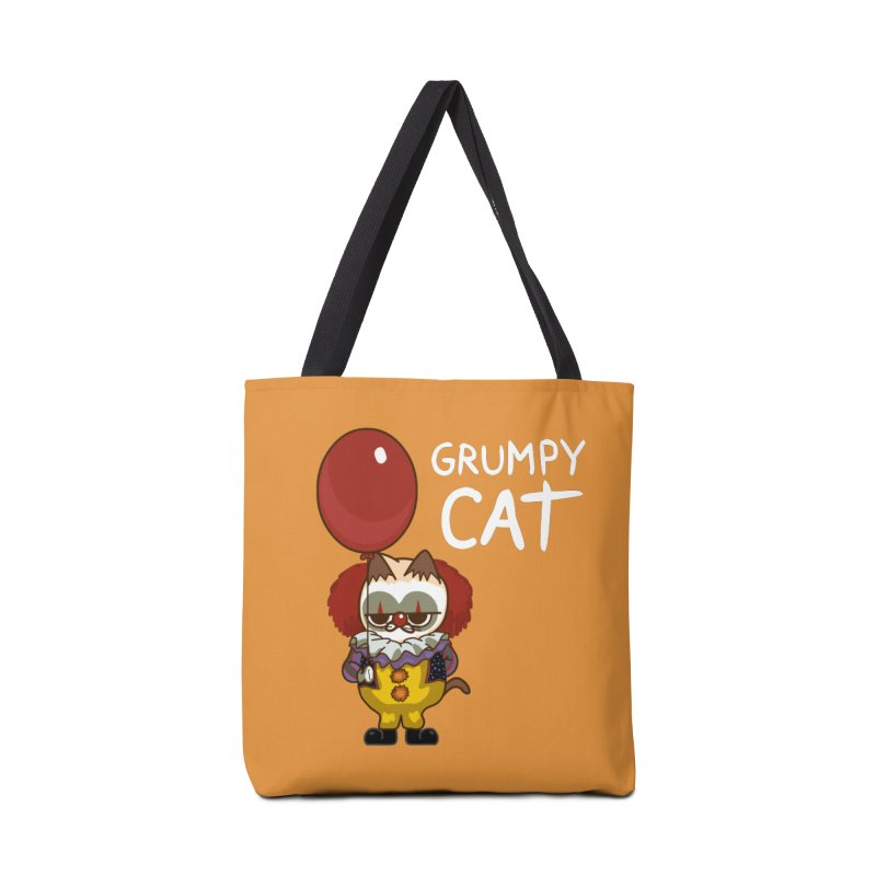 clown cat Accessories Bag by damian's Artist Shop