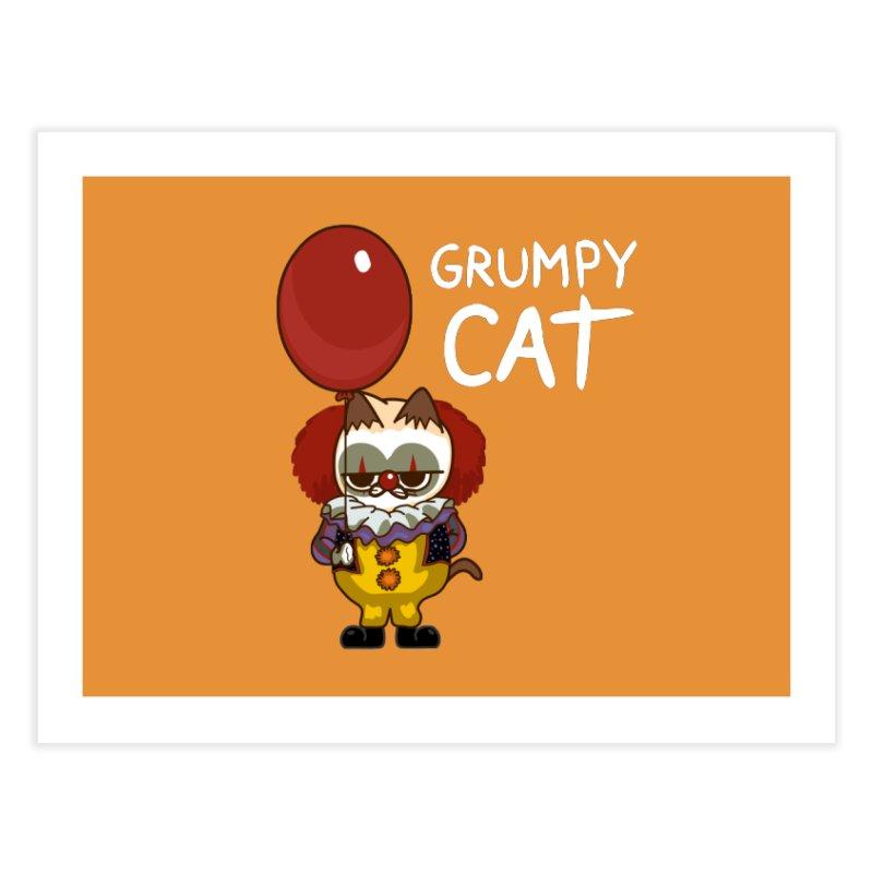 clown cat Home Fine Art Print by damian's Artist Shop