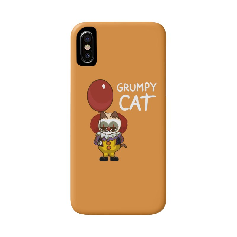 clown cat Accessories Phone Case by damian's Artist Shop