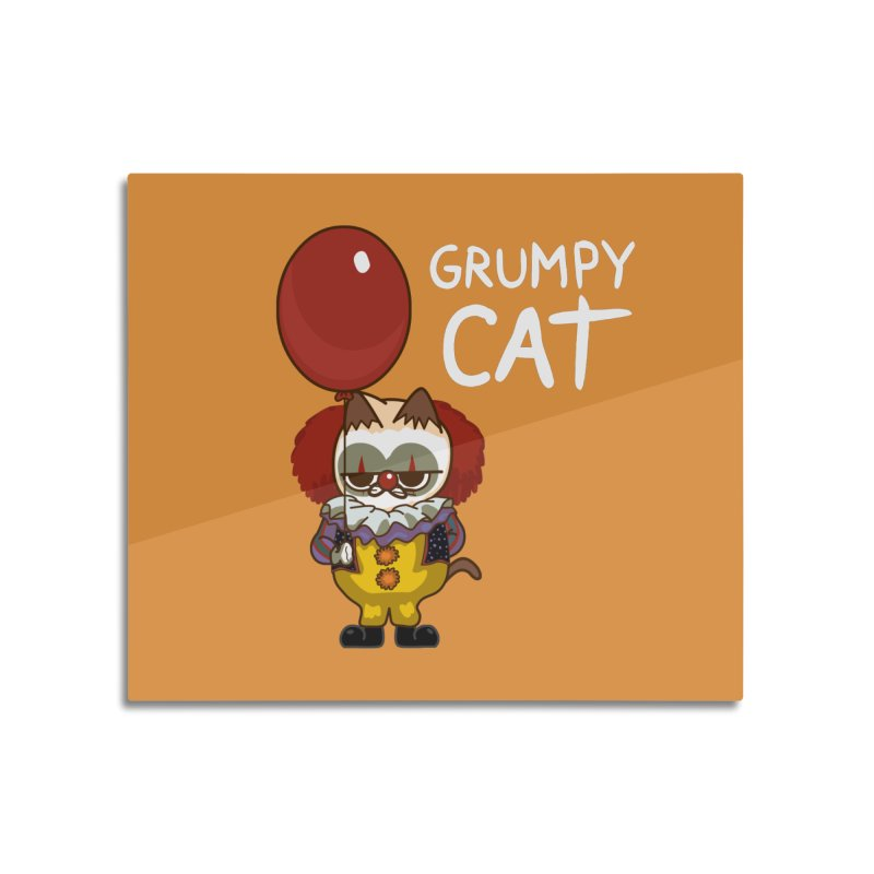 clown cat Home Mounted Aluminum Print by damian's Artist Shop