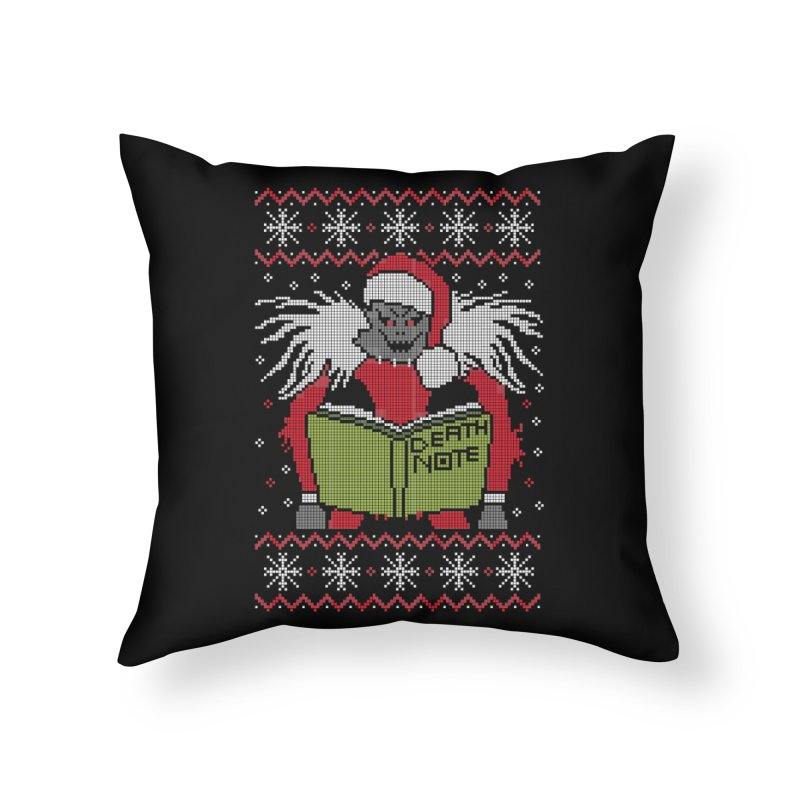 Merry Christmas Home Throw Pillow by damian's Artist Shop