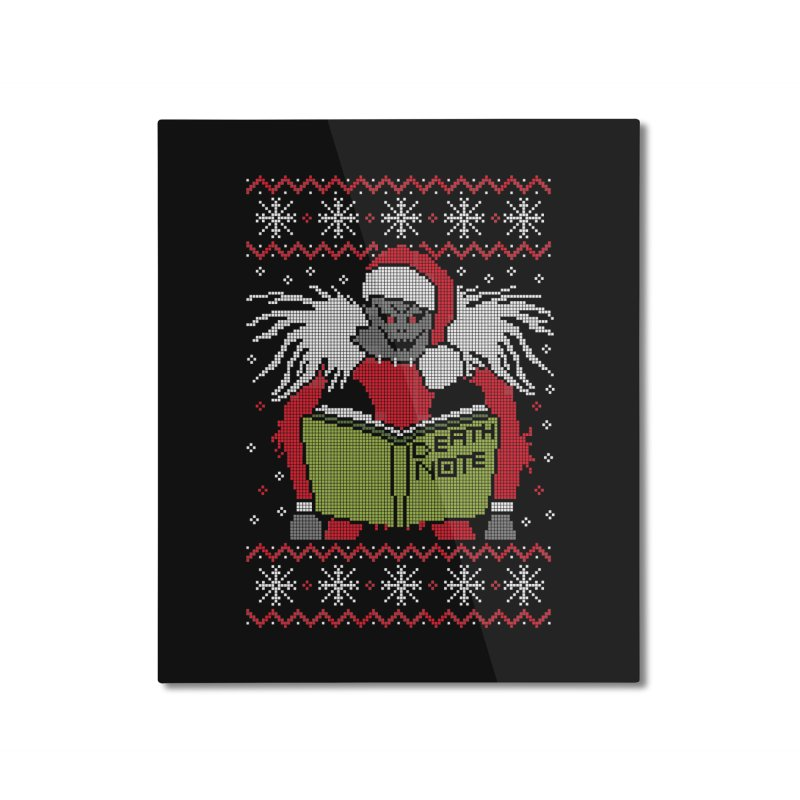 Merry Christmas Home Mounted Aluminum Print by damian's Artist Shop