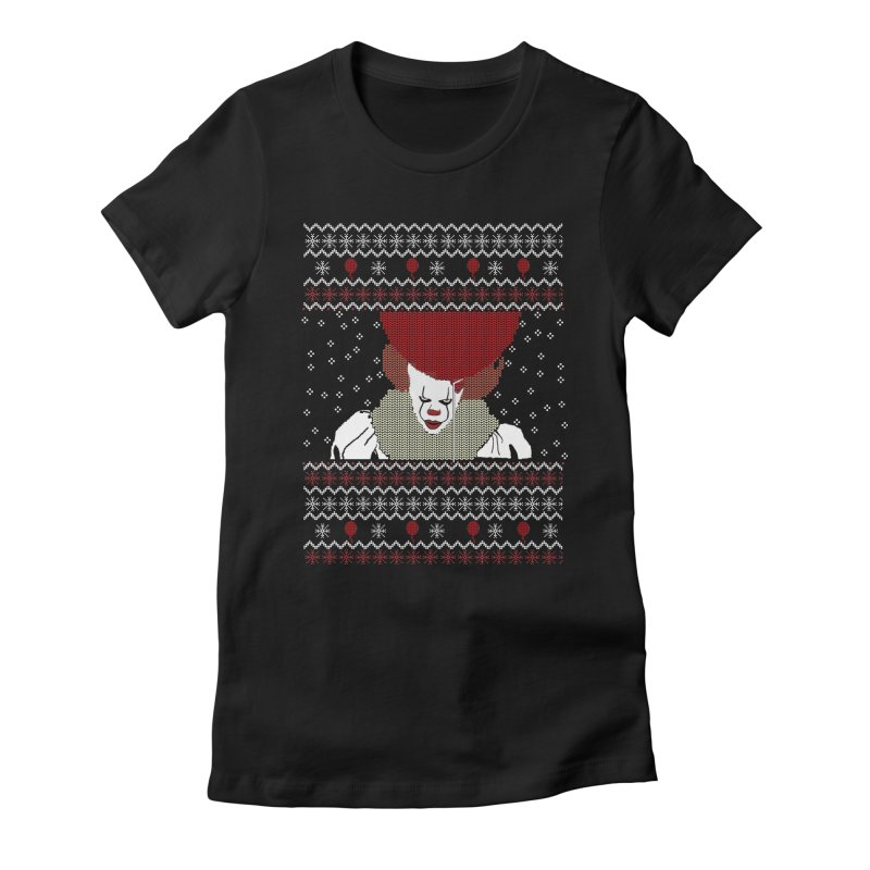 Christmas Women's Fitted T-Shirt by damian's Artist Shop