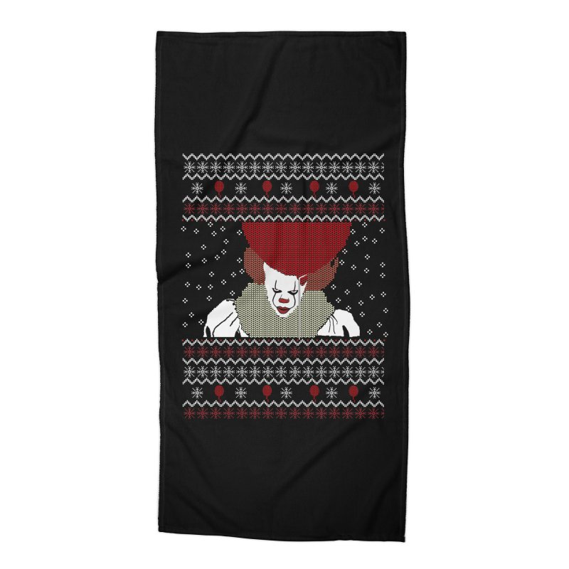 Christmas Accessories Beach Towel by damian's Artist Shop