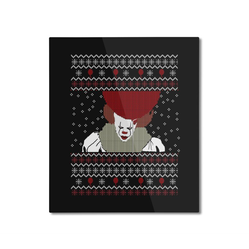 Christmas Home Mounted Aluminum Print by damian's Artist Shop