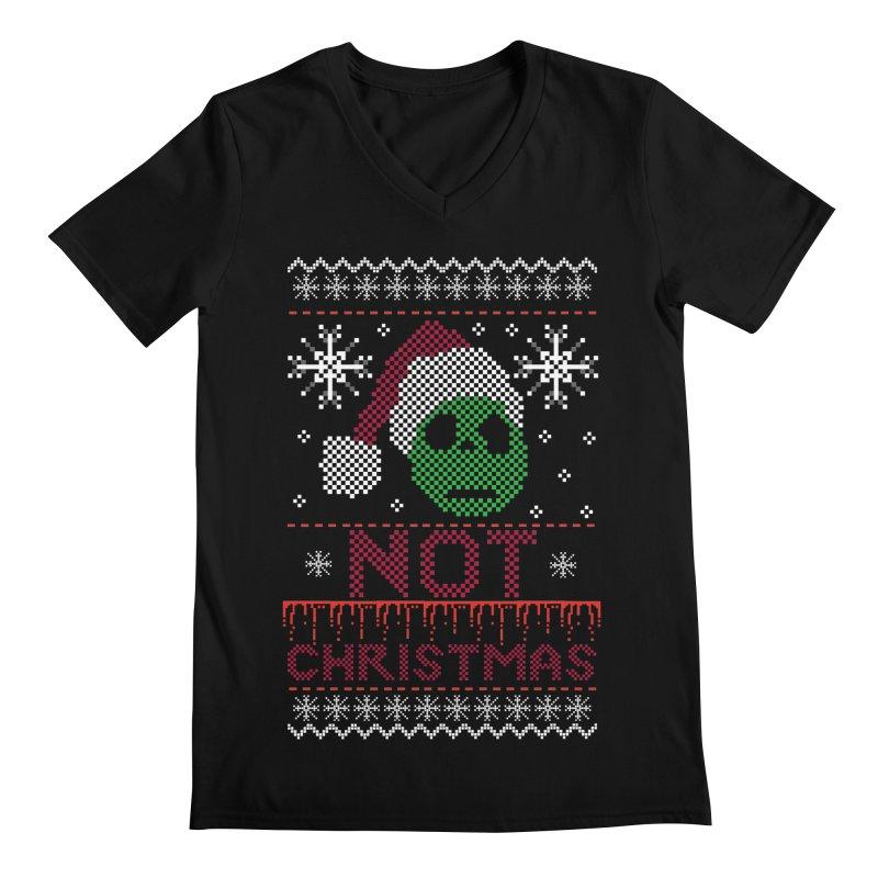 Not  christmas Men's V-Neck by damian's Artist Shop