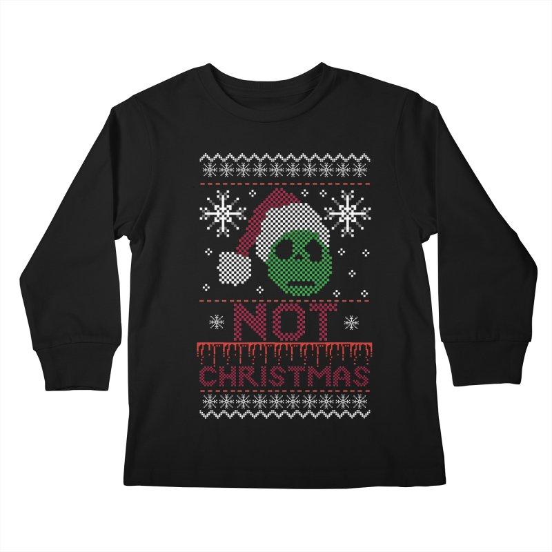 Not  christmas Kids Longsleeve T-Shirt by damian's Artist Shop