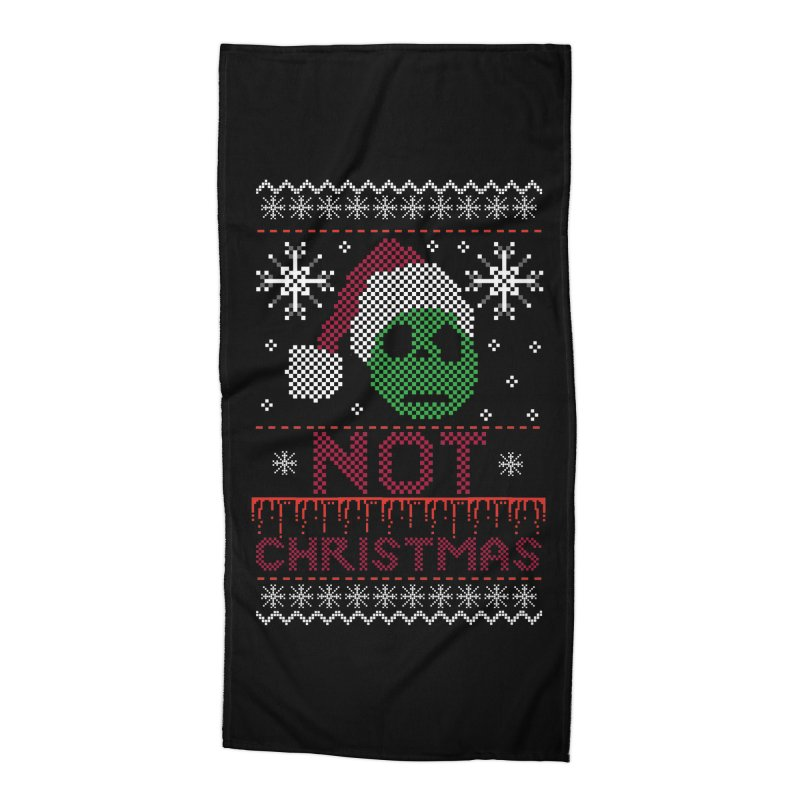 Not  christmas Accessories Beach Towel by damian's Artist Shop