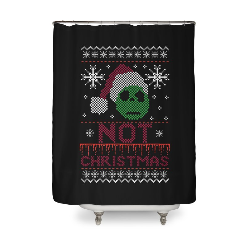 Not  christmas Home Shower Curtain by damian's Artist Shop