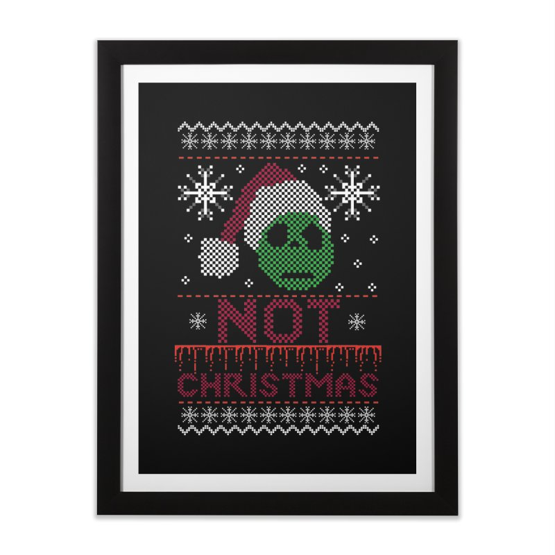 Not  christmas Home Framed Fine Art Print by damian's Artist Shop