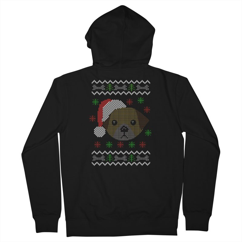Navidad Dog Men's Zip-Up Hoody by damian's Artist Shop