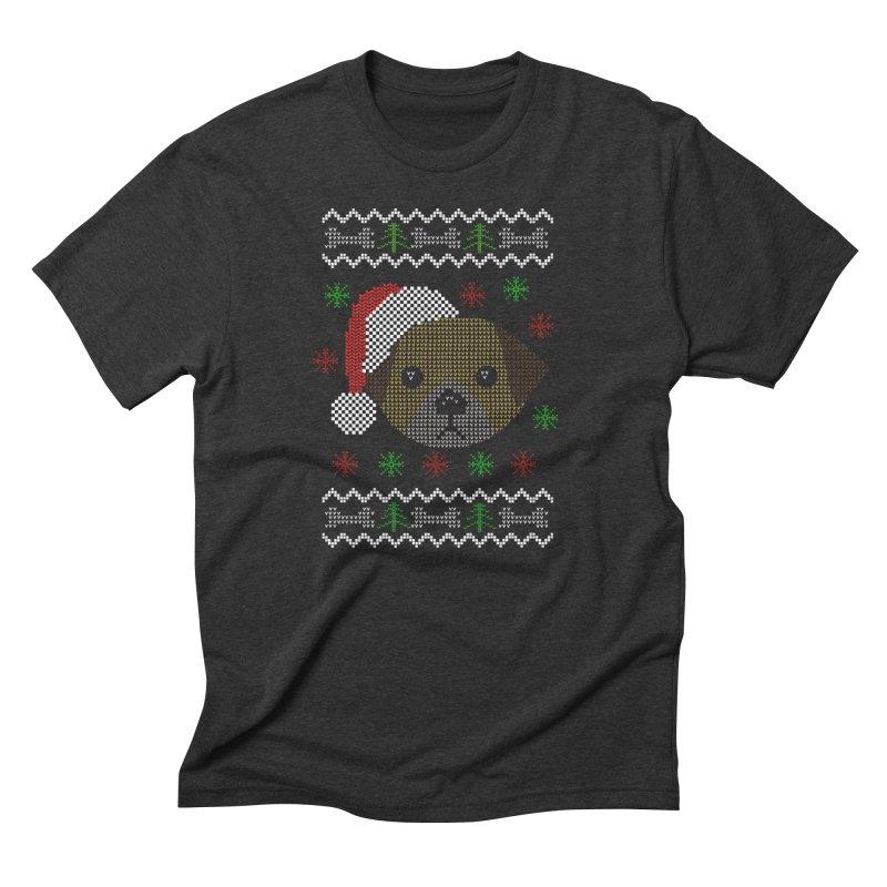 Navidad Dog Men's Triblend T-Shirt by damian's Artist Shop