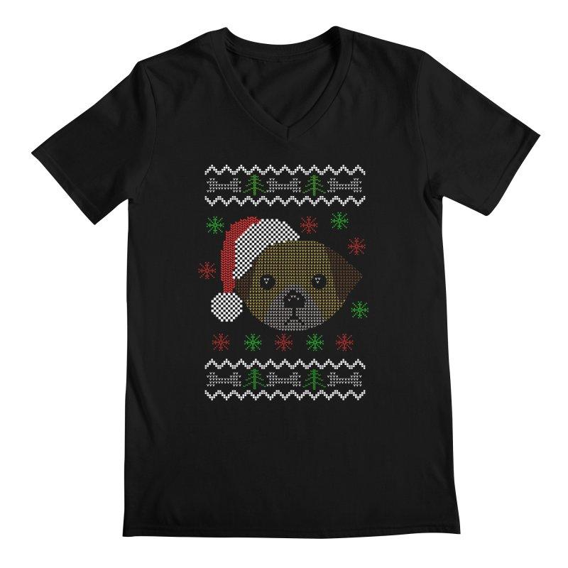 Navidad Dog Men's V-Neck by damian's Artist Shop