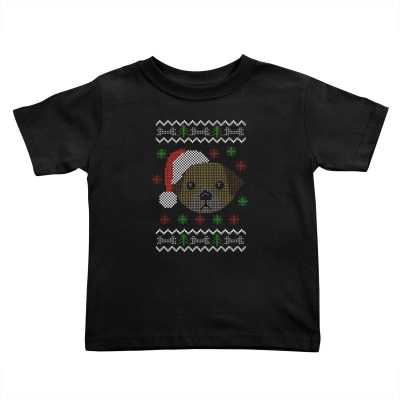 Navidad Dog Kids Toddler T-Shirt by damian's Artist Shop