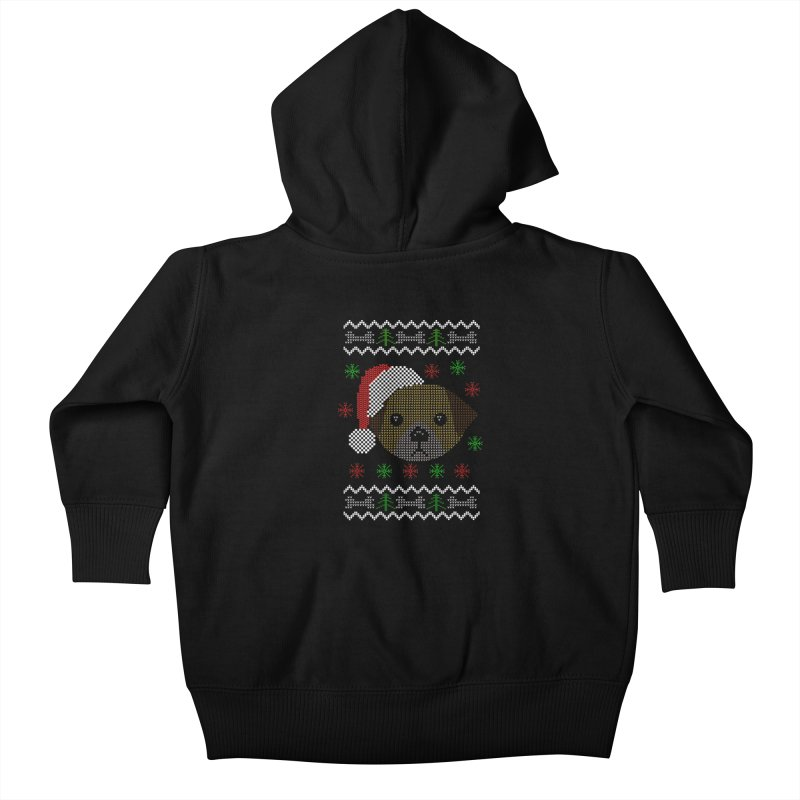 Navidad Dog Kids Baby Zip-Up Hoody by damian's Artist Shop