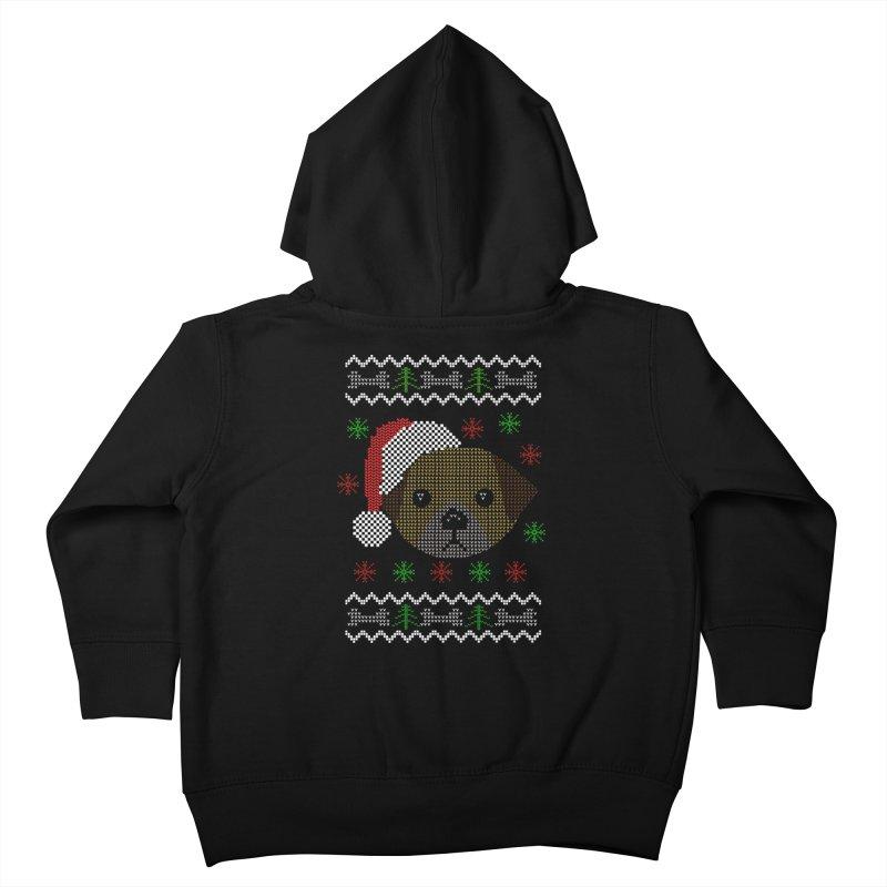 Navidad Dog Kids Toddler Zip-Up Hoody by damian's Artist Shop
