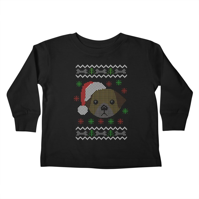 Navidad Dog Kids Toddler Longsleeve T-Shirt by damian's Artist Shop