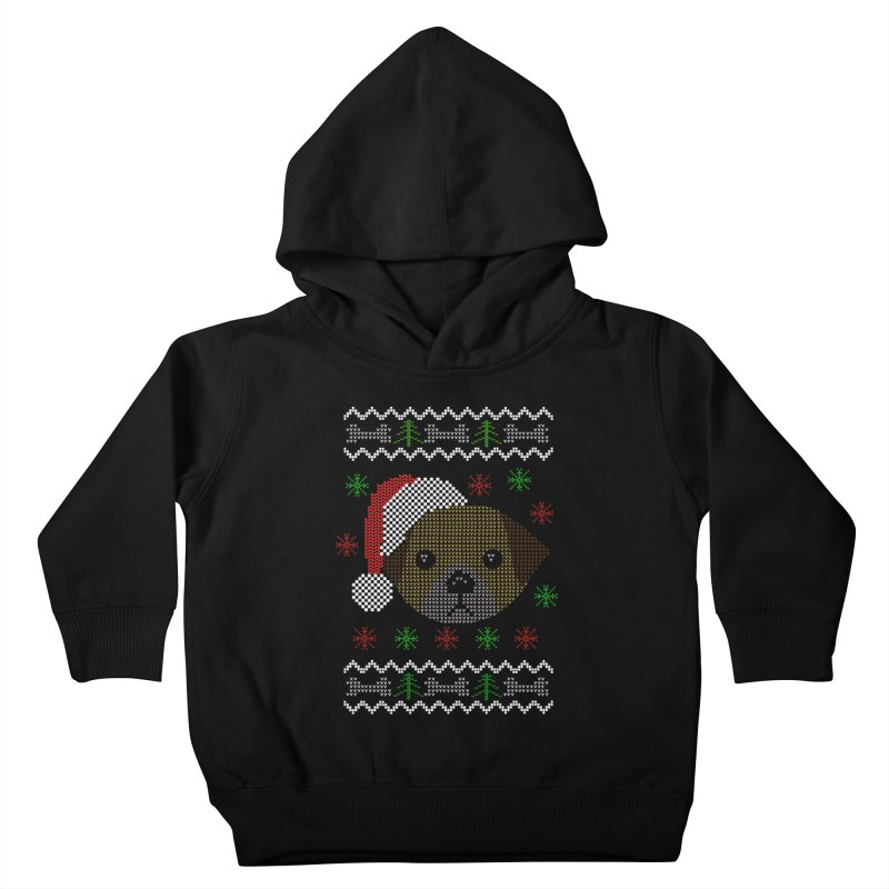 Navidad Dog Kids Toddler Pullover Hoody by damian's Artist Shop