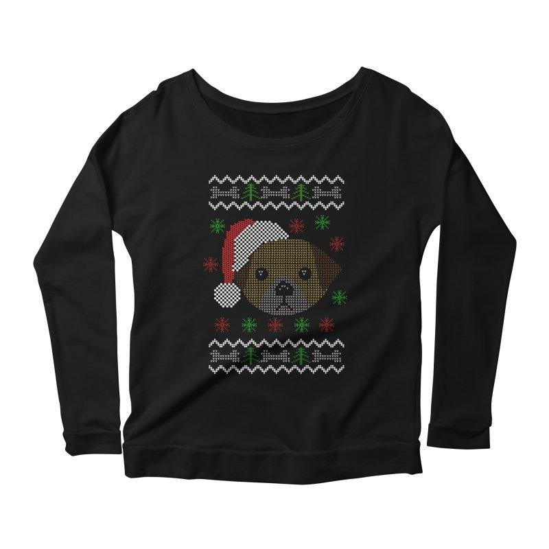 Navidad Dog Women's Longsleeve Scoopneck  by damian's Artist Shop