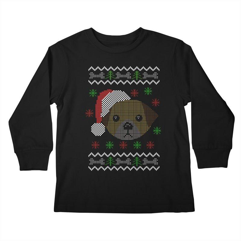 Navidad Dog Kids Longsleeve T-Shirt by damian's Artist Shop