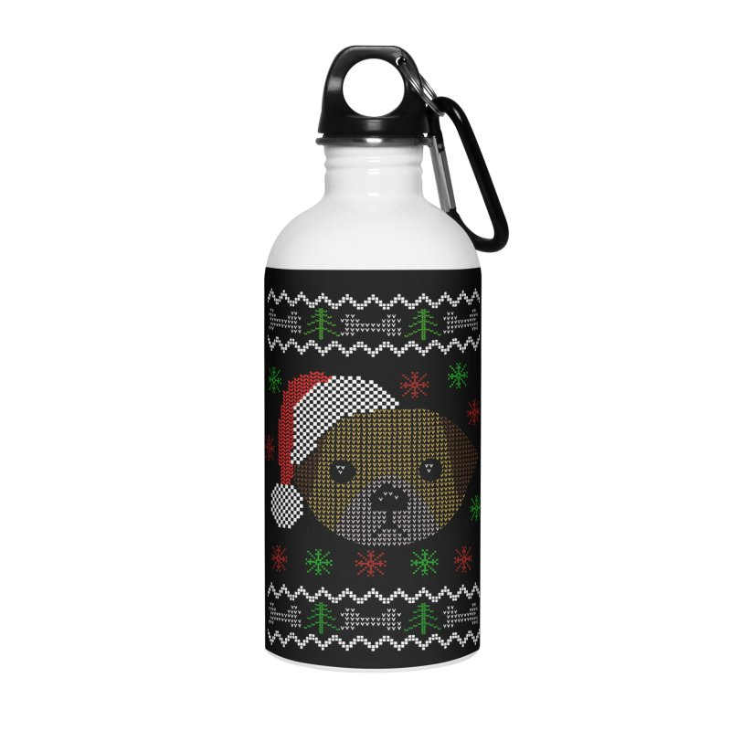 Navidad Dog Accessories Water Bottle by damian's Artist Shop