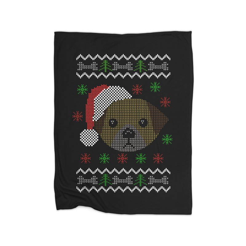 Navidad Dog Home Blanket by damian's Artist Shop