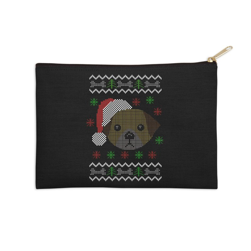 Navidad Dog Accessories Zip Pouch by damian's Artist Shop