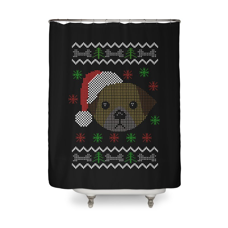 Navidad Dog Home Shower Curtain by damian's Artist Shop
