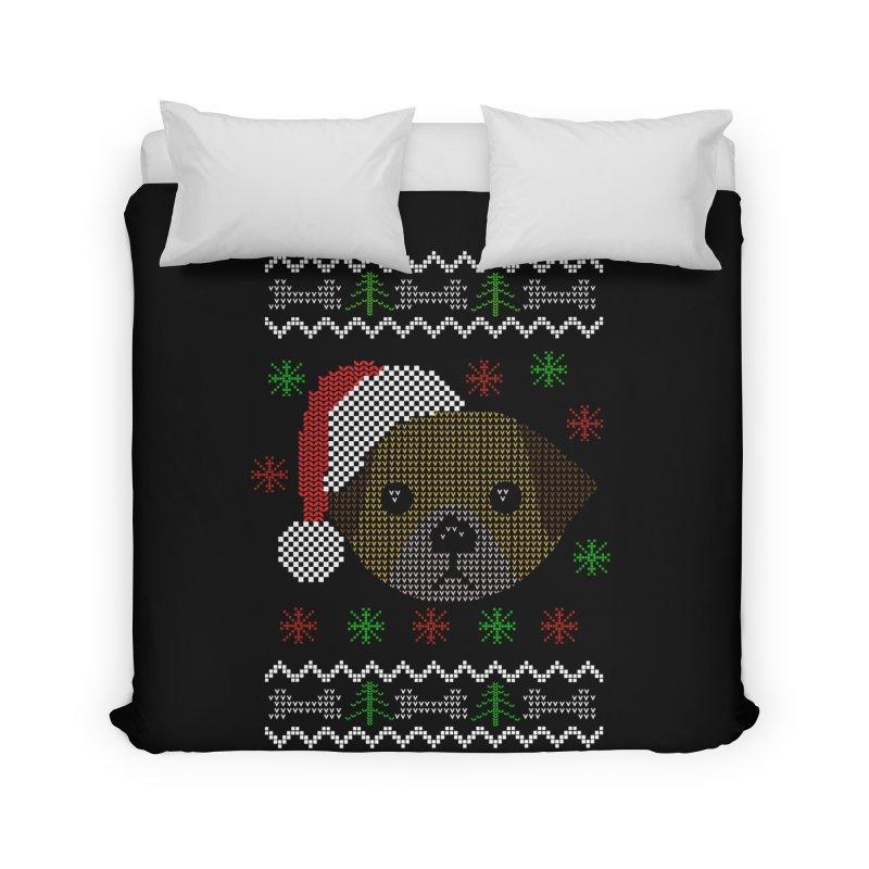 Navidad Dog Home Duvet by damian's Artist Shop