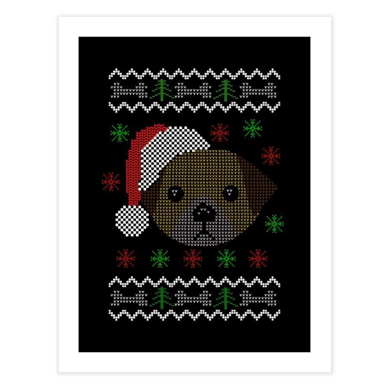 Navidad Dog Home Fine Art Print by damian's Artist Shop