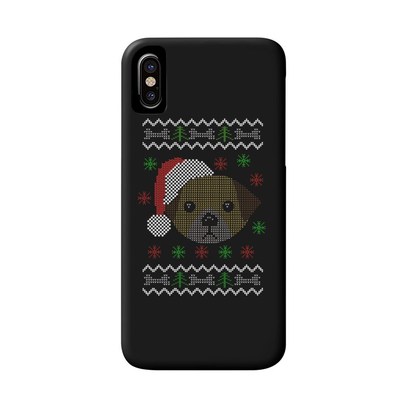 Navidad Dog Accessories Phone Case by damian's Artist Shop